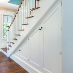under stairs, storage, organization, stairs, Brookhaven cabinetry, stair cabinet, white cabinet